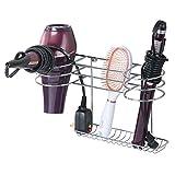 mDesign Soporte para secador de pelo para colgar en la...