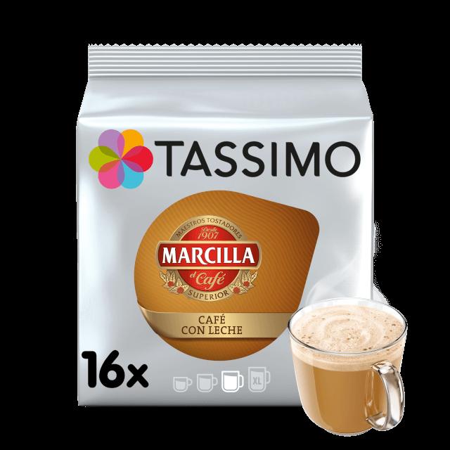 Cpasulas compatibles con cafeteras Tassimo Marcilla Café con leche