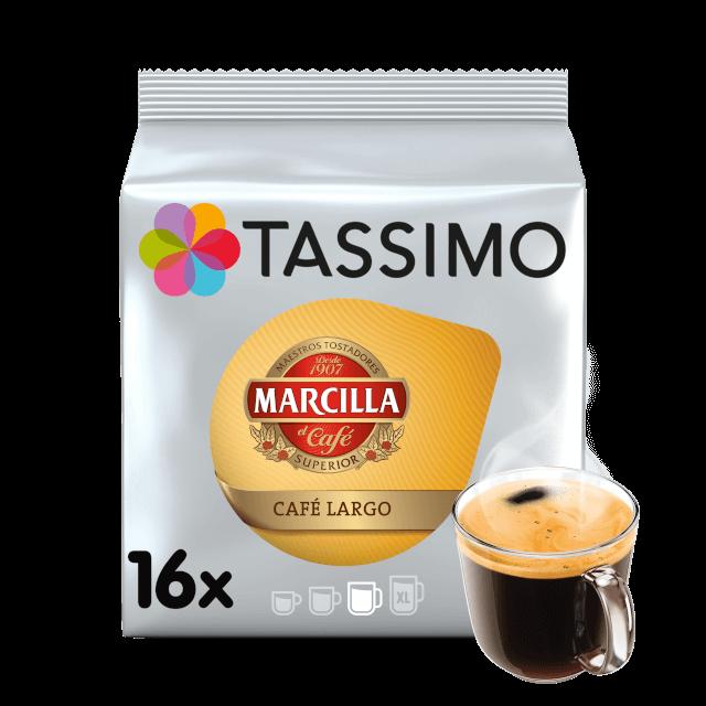 Cápsulas compatibles con Tassimo Marcilla Café Largo