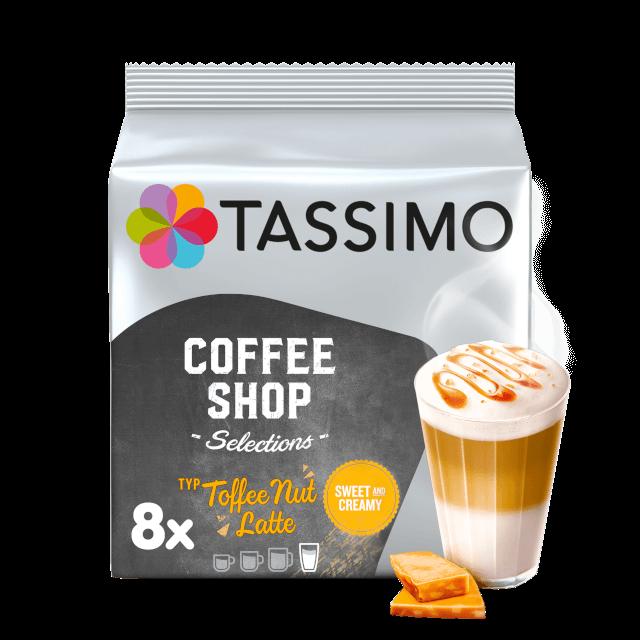 Cápsulas compatibles con cafeteras Tassimo Toffee Nut Latte